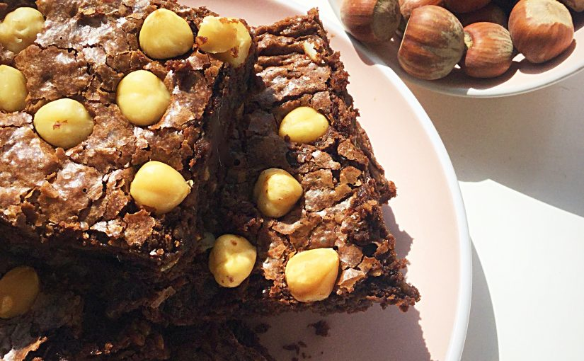 Chocolate Fudge Double Hazelnut Brownies