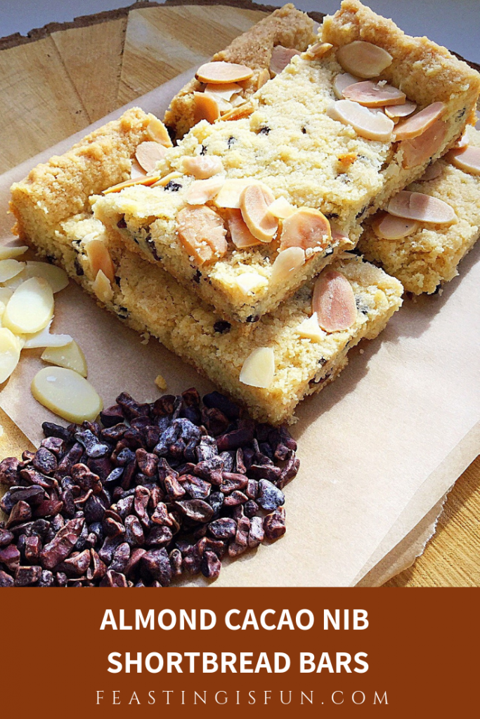 Almond Cacao Nib Shortbread Bars