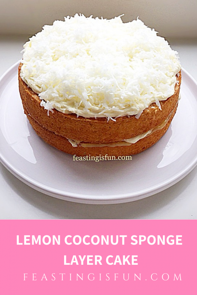 FF Lemon Coconut Sponge Cake