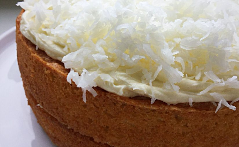 Lemon Coconut Sponge Layer Cake