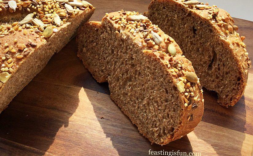Plaited Seeded Top Wholegrain Spelt Bread