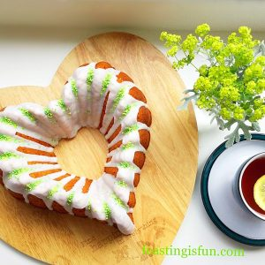 Lemon Lime Gin Heart Bundt Cake