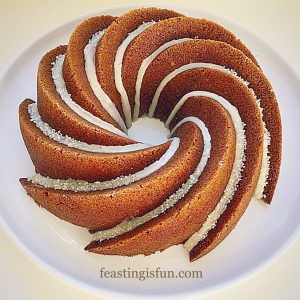 Maple syrup iced coffee Bundt cake