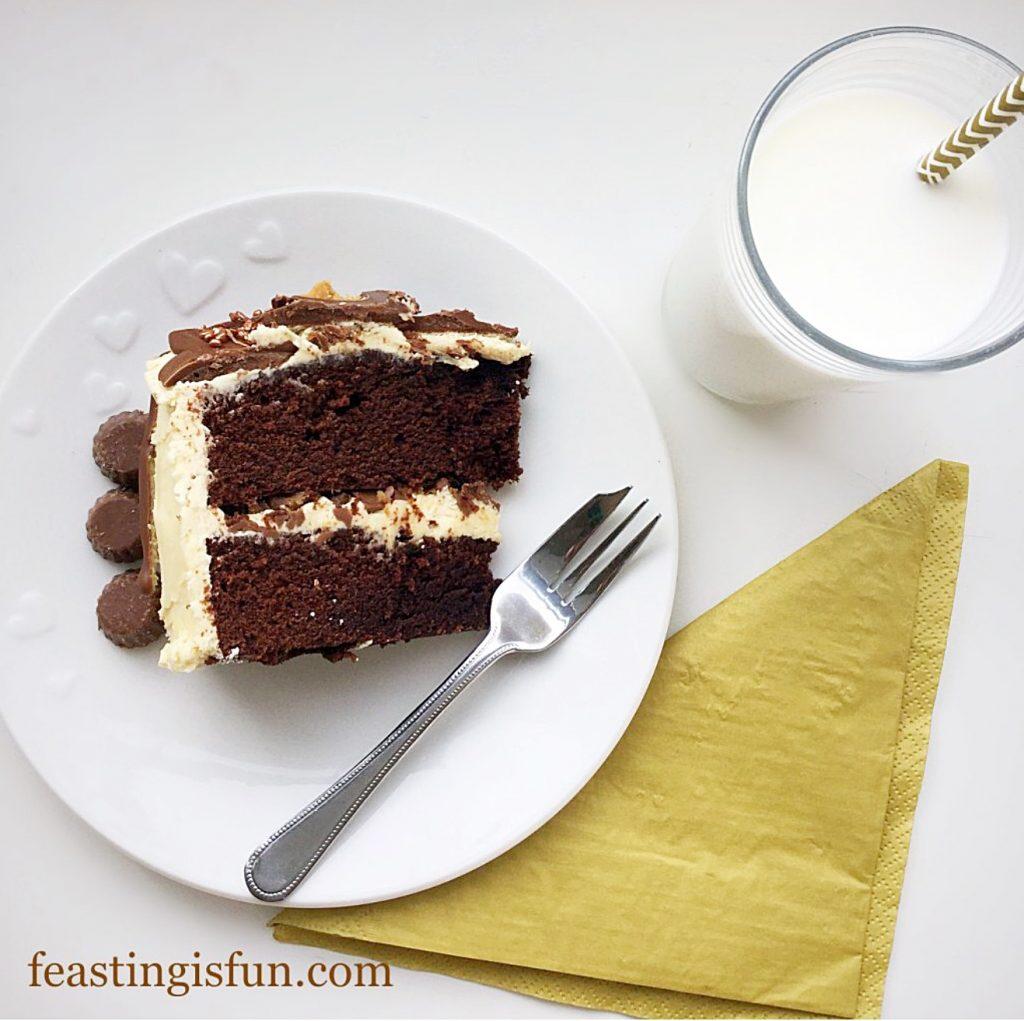 FF Chocolate Peanut Butter Drip Cake