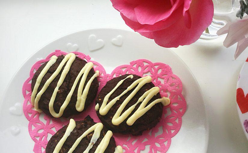 Double Chocolate Nut Spelt Cookies