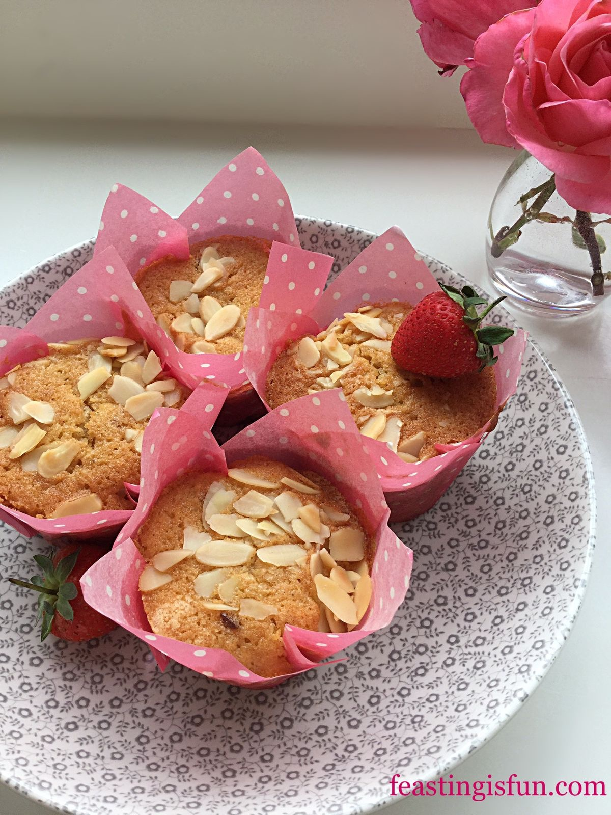 how to make cherry bakewell muffins