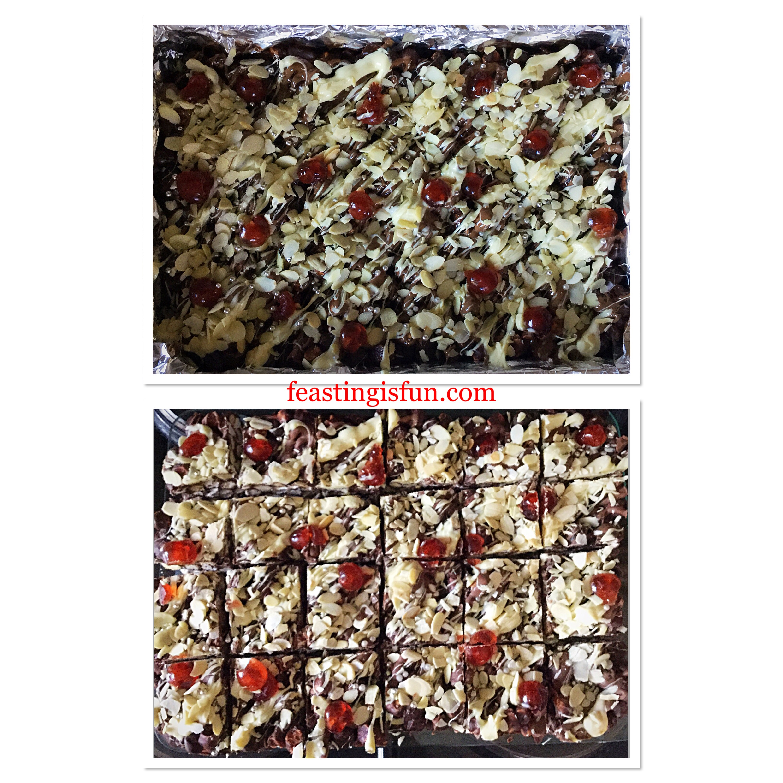 FF Cherry Bakewell Rocky Road Bars