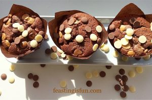 Triple chocolate madness muffins
