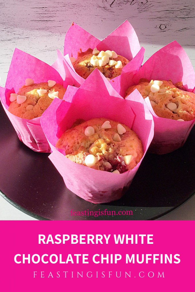 FF Raspberry White Chocolate Chip Muffins