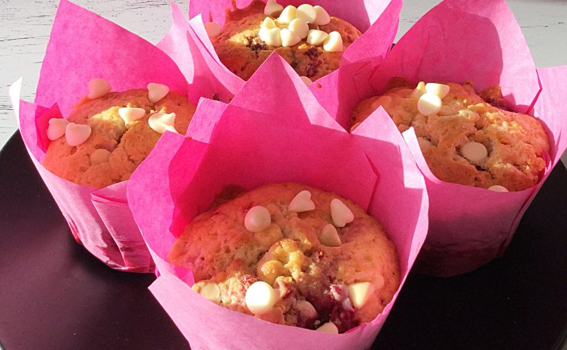 Raspberry White Chocolate Chip Muffins