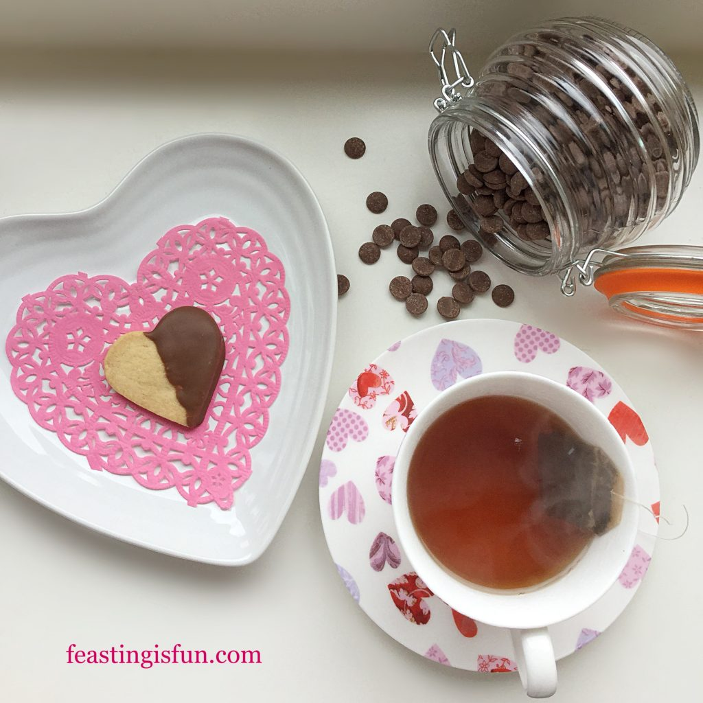 FF Chocolate Dipped Shortbread Heart Cookies