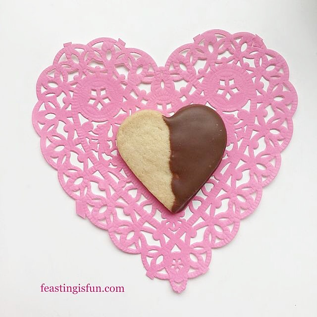 FF Single Shortbread Heart Cookie