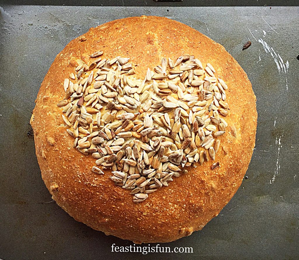 FF Sunflower Seed Heart Cob Loaf