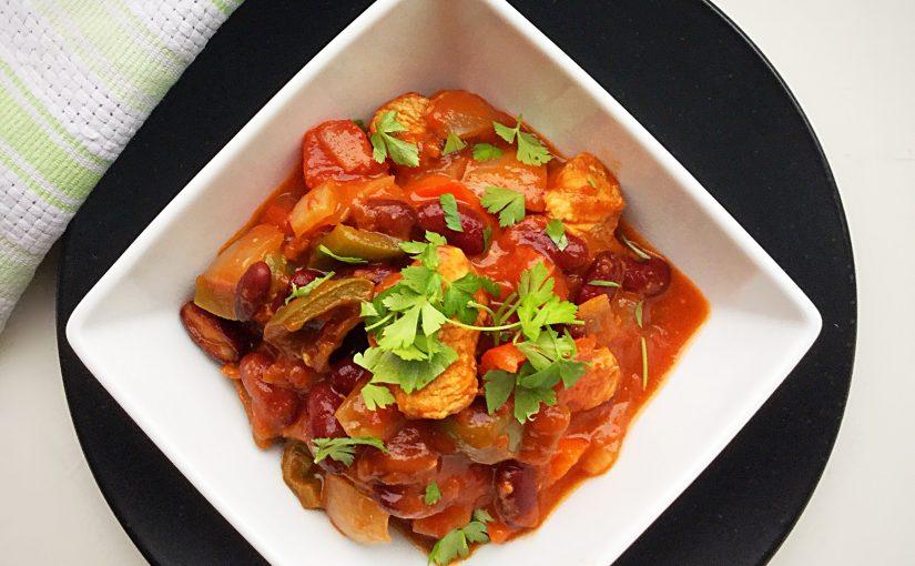 Healthy Turkey Mixed Pepper Chilli