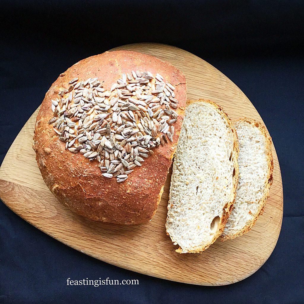 FF Sunflower Seed Heart Cob Loaf
