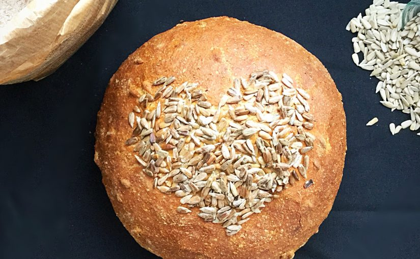 Sunflower Seed Heart Cob Loaf