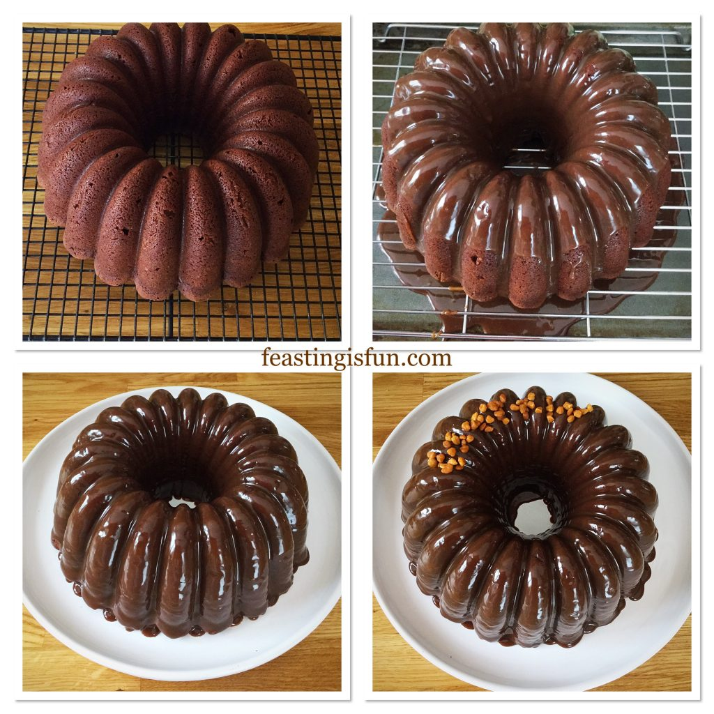 FF Caramel Crunch Topped Chocolate Bundt Cake