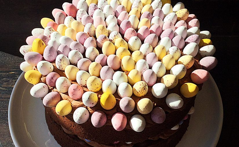Chocolate Mini Egg Sponge Cake