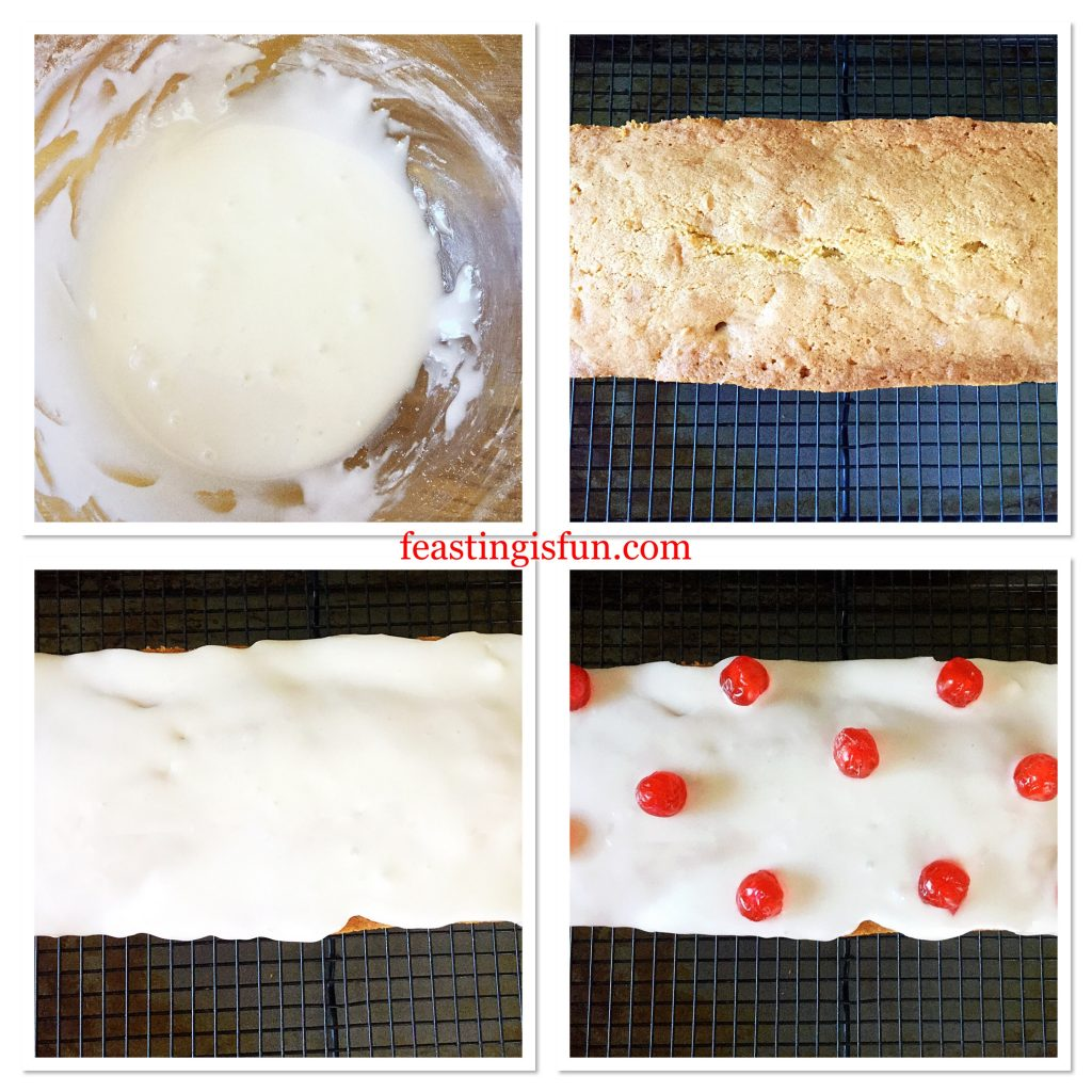 FF Iced Cherry Coconut Loaf Cake