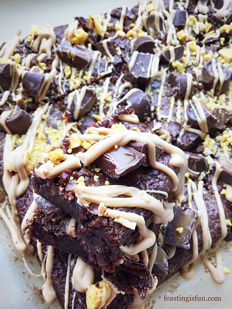 FF Caramac Drizzle Rolo Caramel Brownies