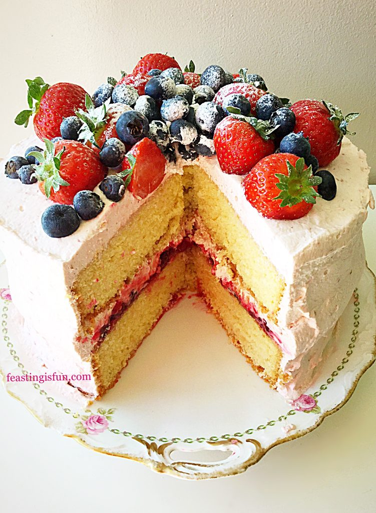 FF Summer Mixed Berry Sponge Cake