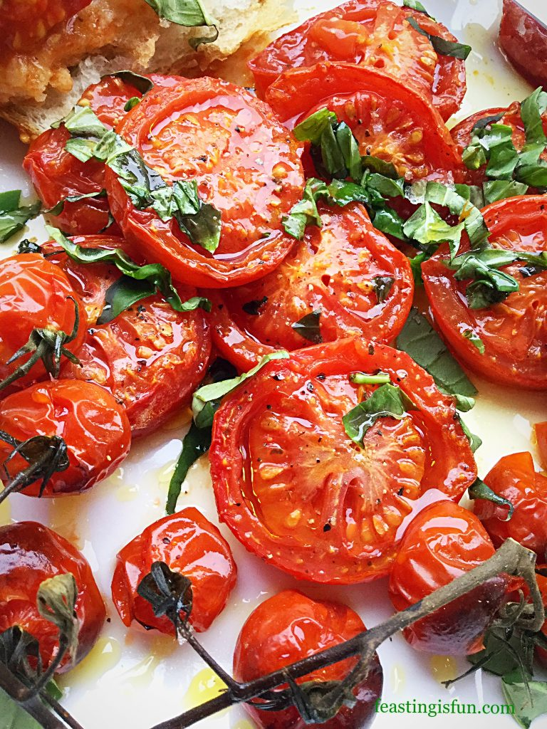 FF Fresh Basil Topped Slow Roasted Tomatoes