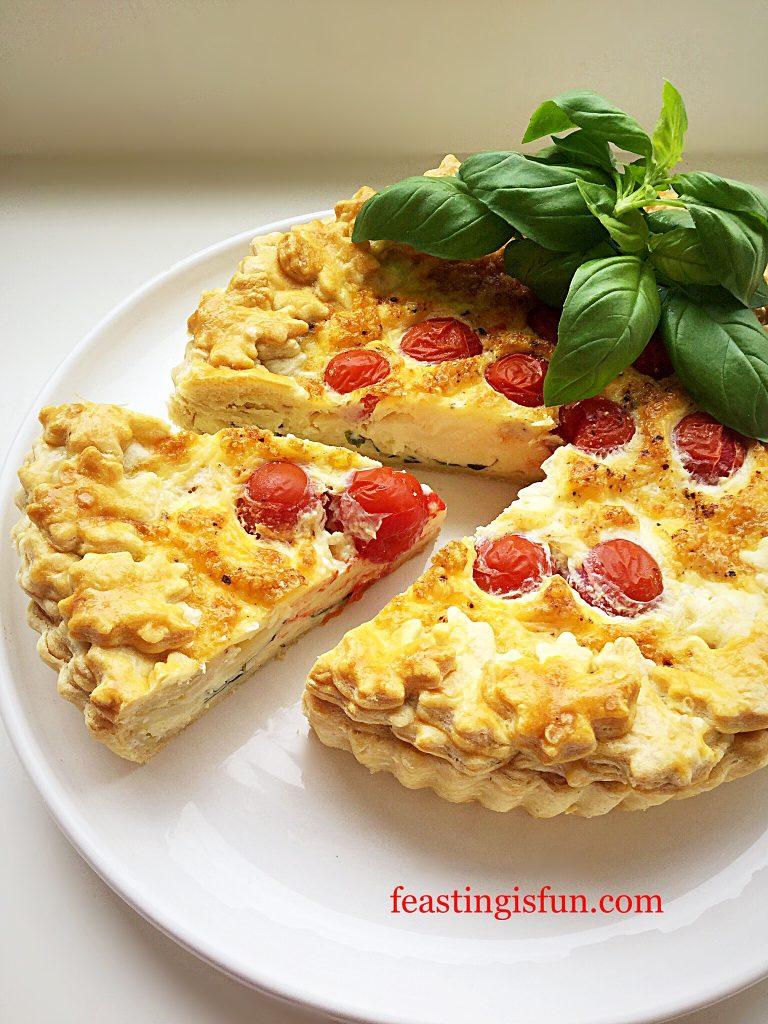 FF Cherry Tomato Mozzarella Basil Quiche