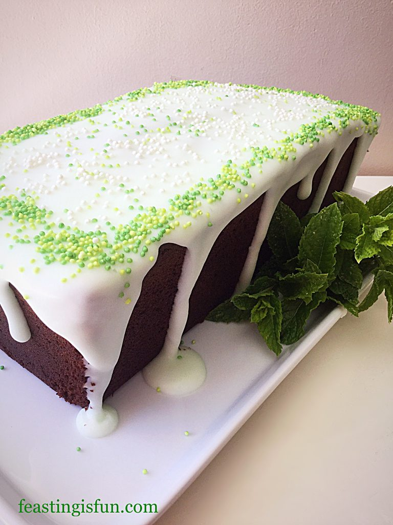 FF Mint Chocolate Chip Drizzle Cake