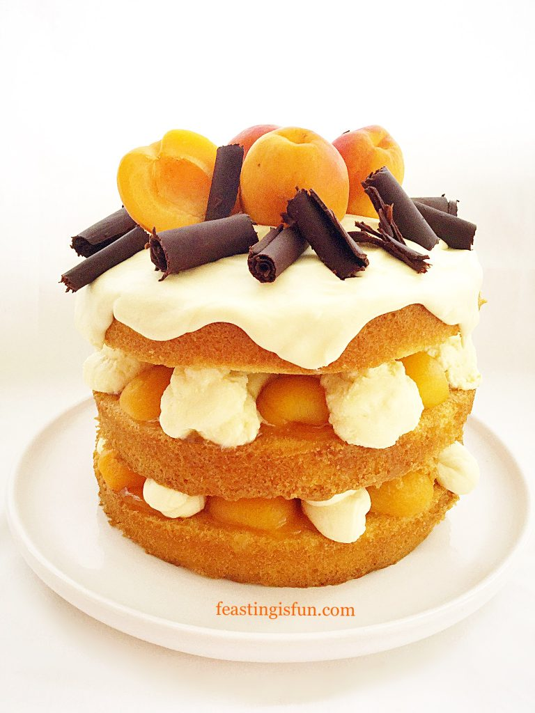 FF Apricot White Chocolate Triple Sponge Cake