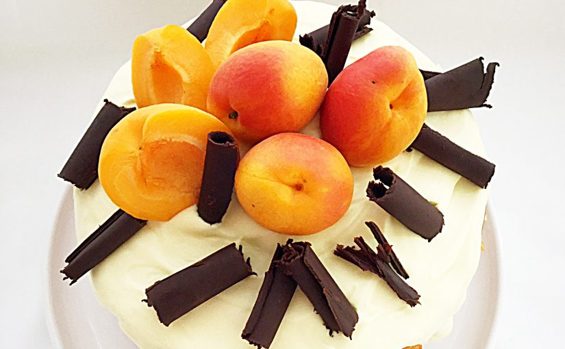 Apricot White Chocolate Triple Sponge Cake
