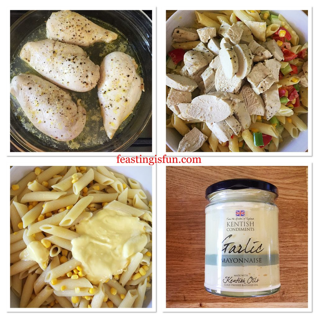 FF Creamy Garlic Lemon Chicken Pasta Salad