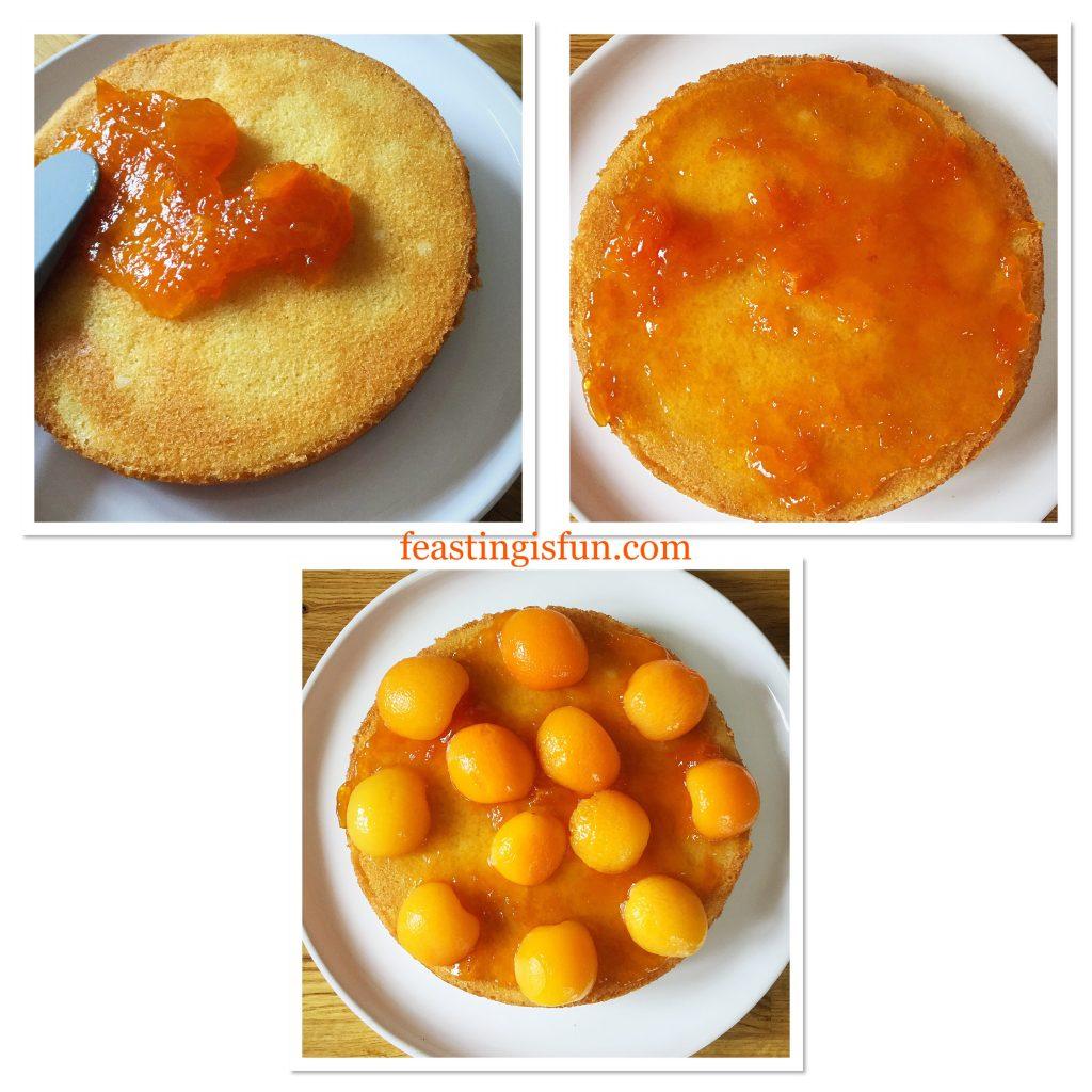 FF Apricot White Chocolate Triple Sponge Cake