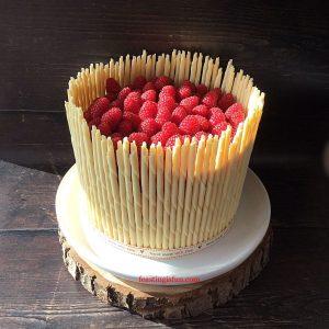 FF Apricot White Chocolate Celebration Layer Cake