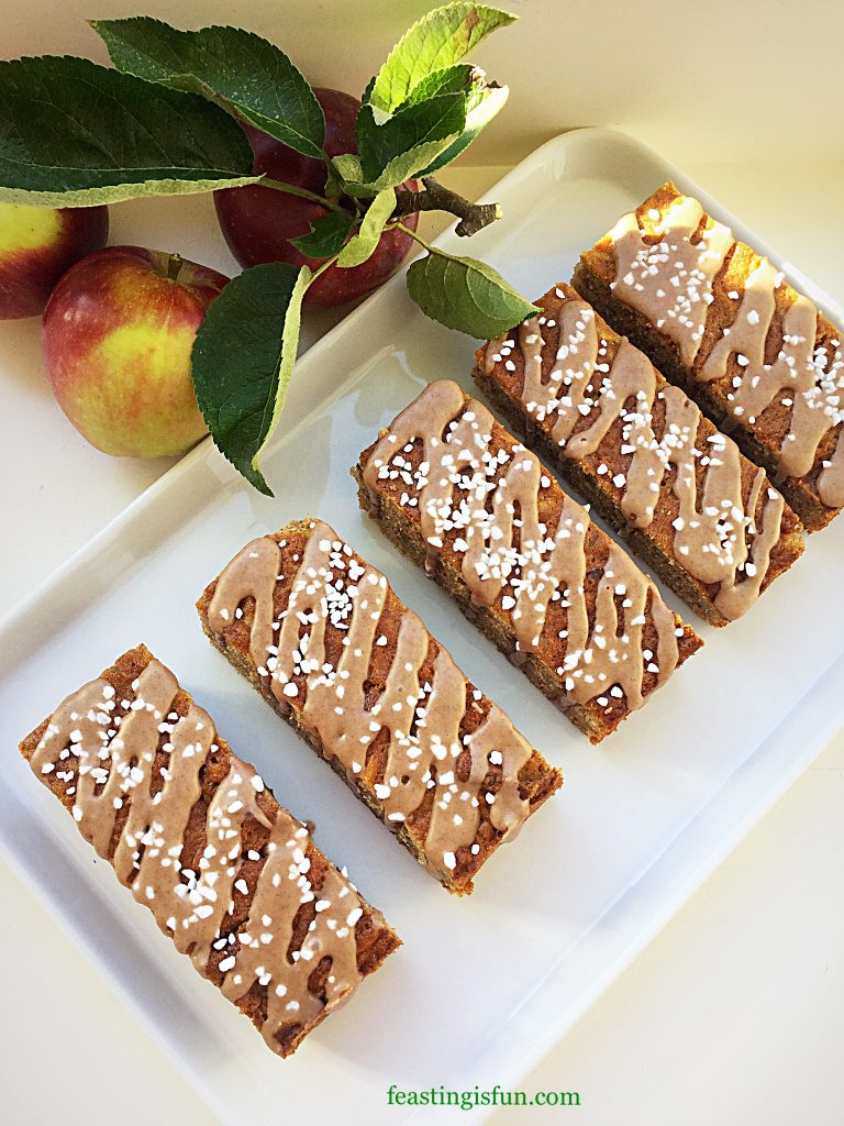 FF Cinnamon Drizzle Apple Walnut Cake Bars
