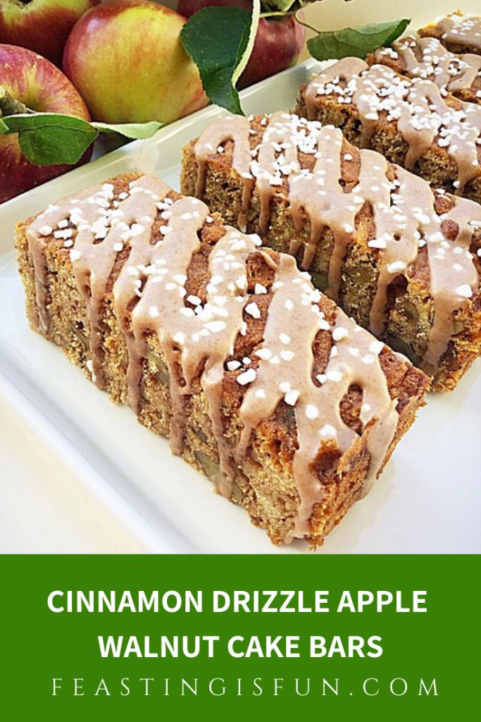 FF Cinnamon Drizzle Apple Walnut Cake Bars