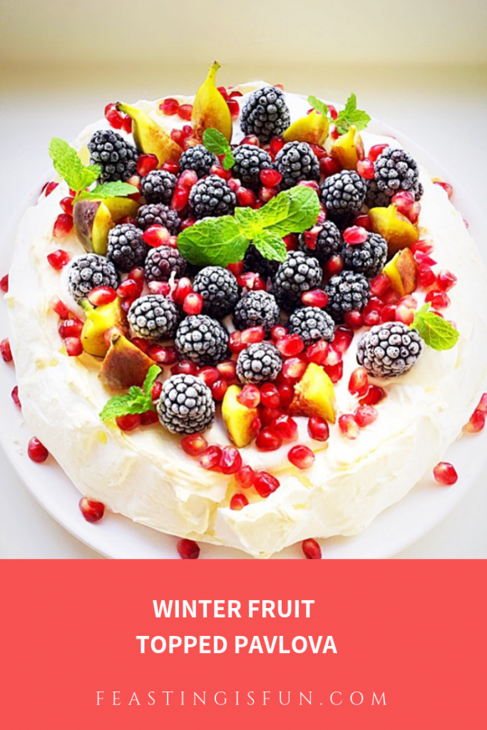 FF Winter Fruit Topped Pavlova