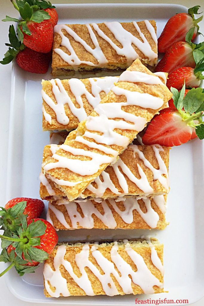 FF Double Strawberry Cake Bars
