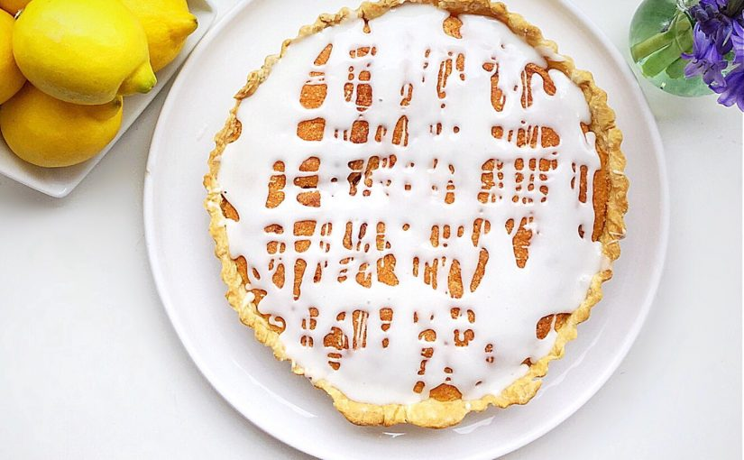 Lemon Curd Sponge Tart