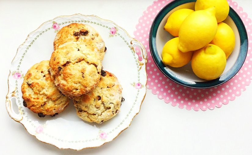 Lemon Sultana Buttermilk Scones