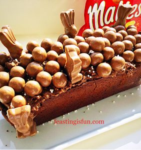 Maltesers malted chocolate loaf cake.
