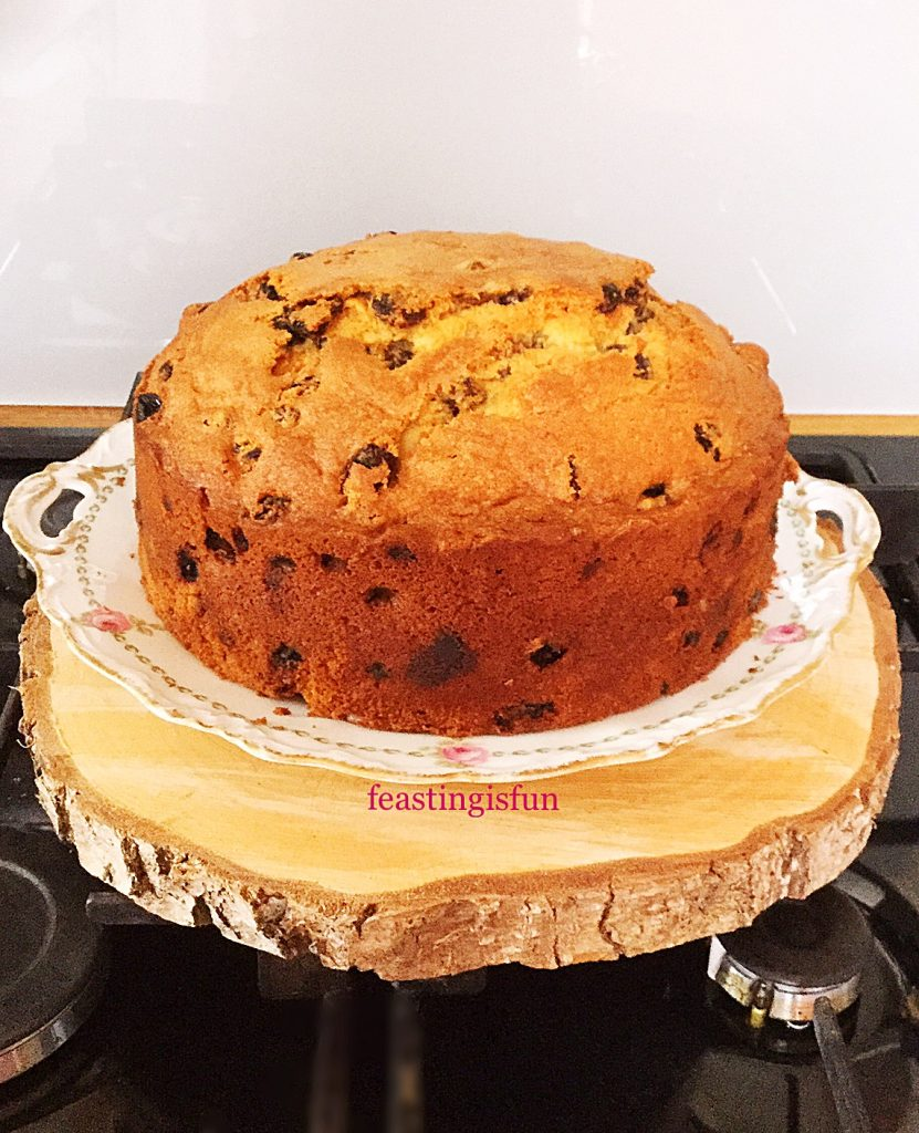 Original birthday cake version of this amaretto light fruit cake.