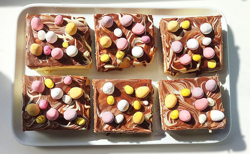 Mini Egg Marbled Traybake